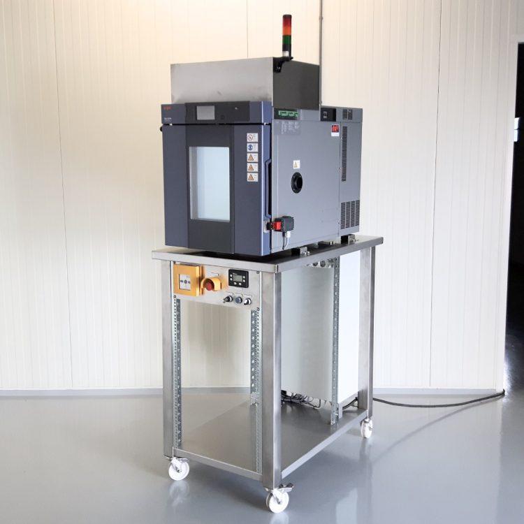 Kleine klimaatkast t.b.v. lithium-ion testen
