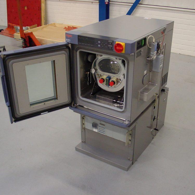 Klimaatkast met gasmengsel testsysteem